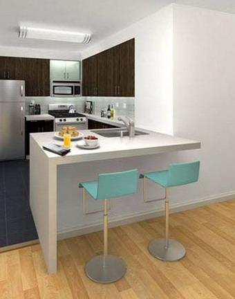 350 West 37th Street Kitchen – NYC Rental Apartments