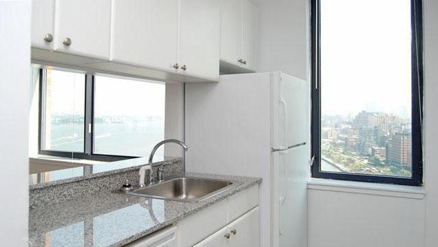 Kitchen of rental apartments at 41 River Terrace
