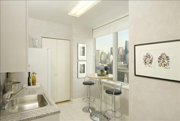 Kitchen Area of NYC Rental Apartments at 160 Riverside Boulevard