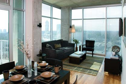 The Solaire apartments Living Room