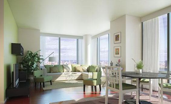 Living Room view of Apartment Rentals at AIRE