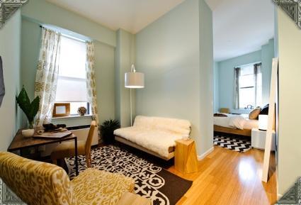 90 West Street rental building Living Room - NYC Flats