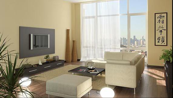 Living Room - 42-51 Hunter Street - LIC Apartments