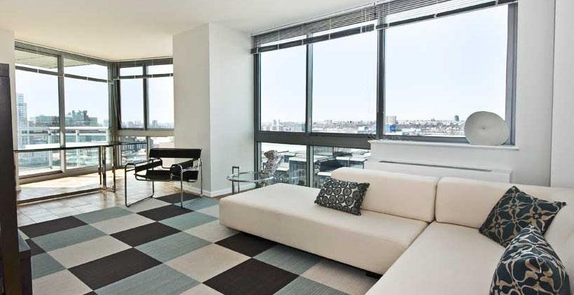 505 West 37th Street Living Room - NYC Rental Apartments