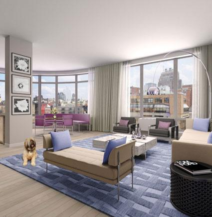 55 Thompson Street Living Room - Soho Apartment Rentals