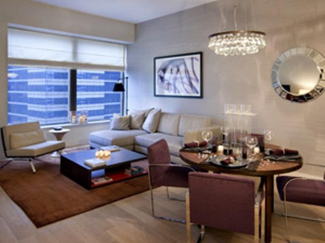 75 Wall Street rental building Living Room – NYC Flats