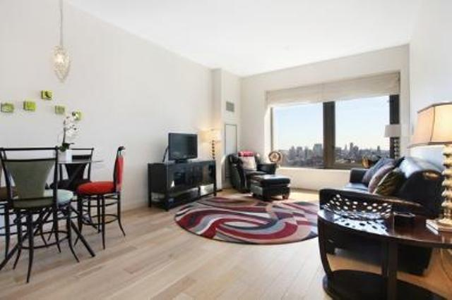 75 Wall Street Living Room – Manhattan Rental Apartments