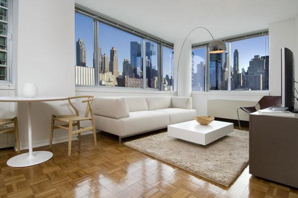 Rental Apartments at 510 West 52nd street Living Room