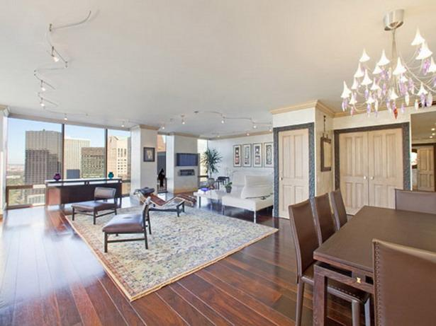 Olympic Tower rental building Living Room with Dining Area - NYC Flats