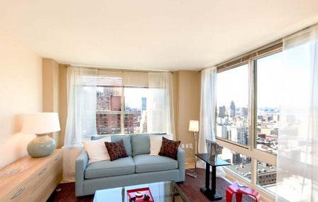 Rental Apartments at 260 West 54th Street Living Room
