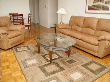 235 West 56th Street Living Room - Manhattan Rental Apartments