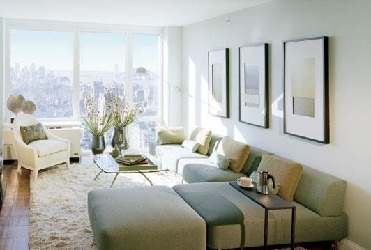 125 West 31st Street Living Room - NYC Rental Apartments