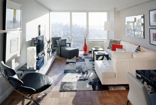 The Epic rental building Living Room - NYC Flats