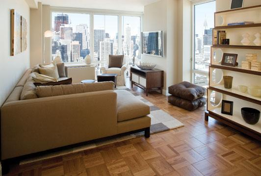 125 West 31st Street Living Room - Manhattan Rental Apartments