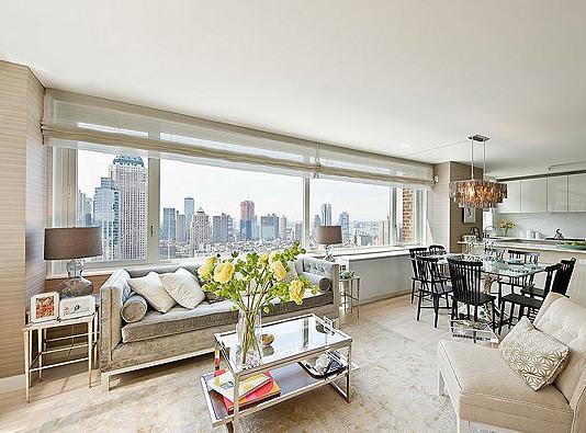 322 West 57th Street Living Room - Manhattan Rental Apartments
