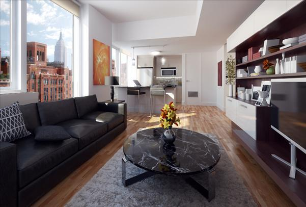 500 West 23rd Street Living Room – Manhattan Rental Apartments