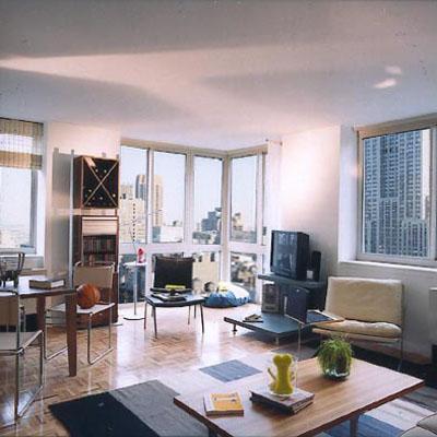 Atlas New York Living Room - Manhattan Apartments for rent