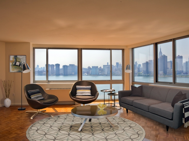 Living Room - Avalon Riverview - Long Island City Apartments