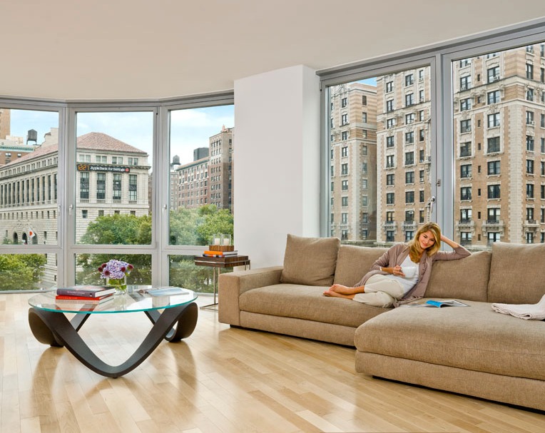 Open Living RoomThe Corner 200 West 72nd Street Bright Airy