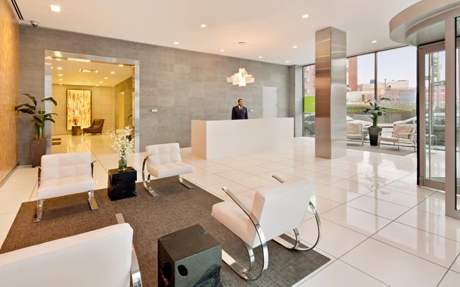 Lobby of L haus - LIC Rentals