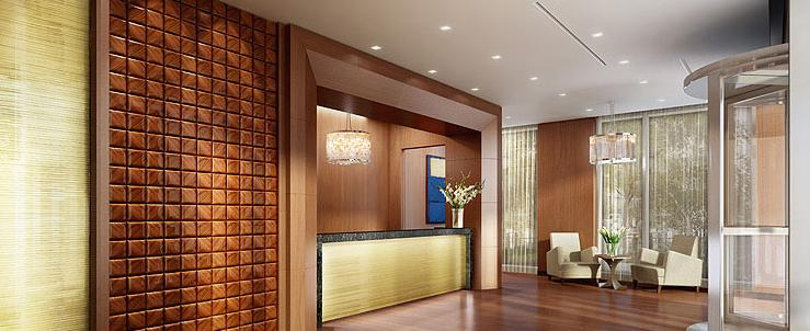 200 North End Avenue Lobby - Battery Park City Rental Apartments