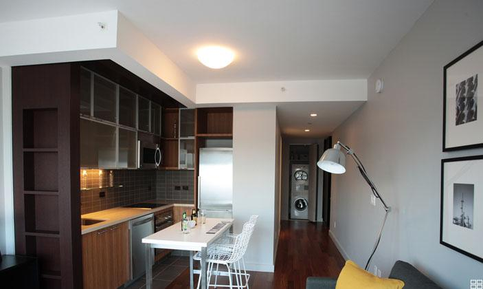 620 West 42nd Street Living Area and Kitchen - Clinton Rental Apartments