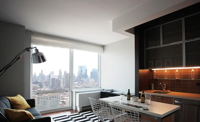 Silver Towers Living Area - Manhattan Apartments for rent