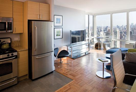 125 West 31st Street apartments for rent  Living Area and Kitchen