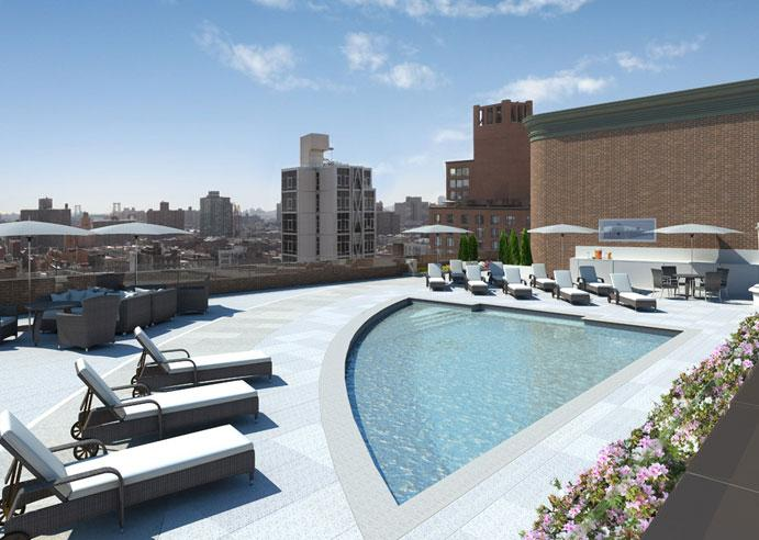 2 Cooper Square rental building Pool - NYC Flats