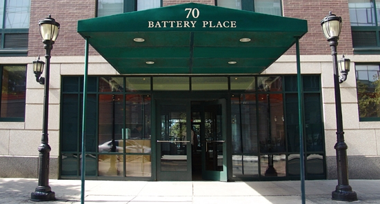 Riverwatch Place Entrance - Financial District Apartment Rentals