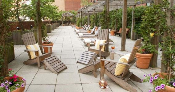 One Columbus Place Rooftop Garden - 400 West 59th Street  apartments for rent