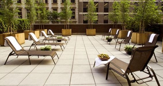 One Columbus Place Roof Deck - Clinton Apartment Rentals
