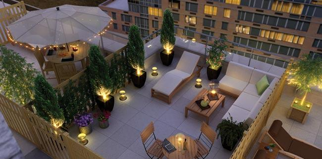 415 Main Street Rooftop Cabanas - Manhattan Rental Apartments