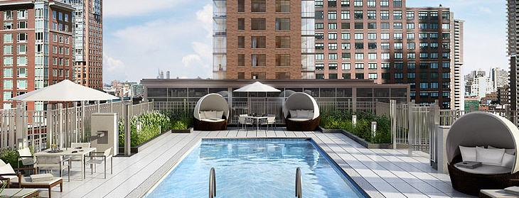 200 North End Avenue Rooftop Swimming Pool - NYC Rental Apartments