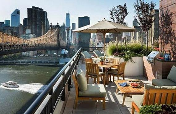 Riverwalk Court rental building Rooftop Terrace - NYC Flats