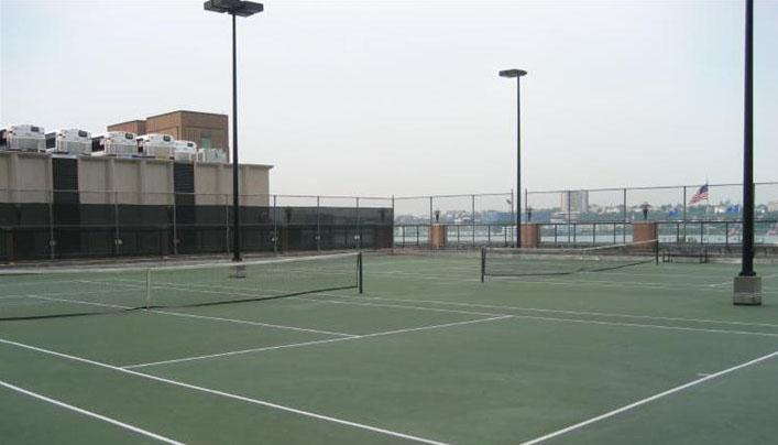 1 River Place Tennis Court - Clinton Rental Apartments