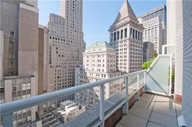 Terrace View of Apartments Rentals at 15 Broad Street