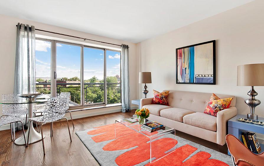 Acacia living Room- Brooklyn apartment for rent