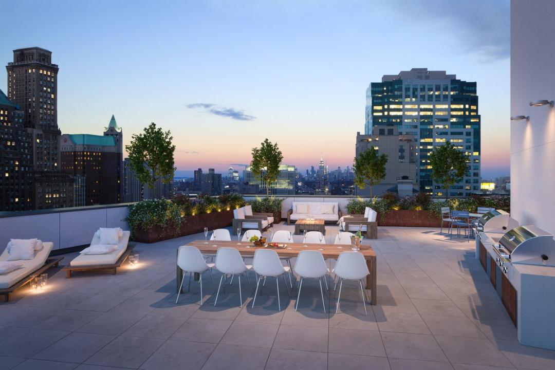 Rooftop terrace at 415 Red Hook Lane