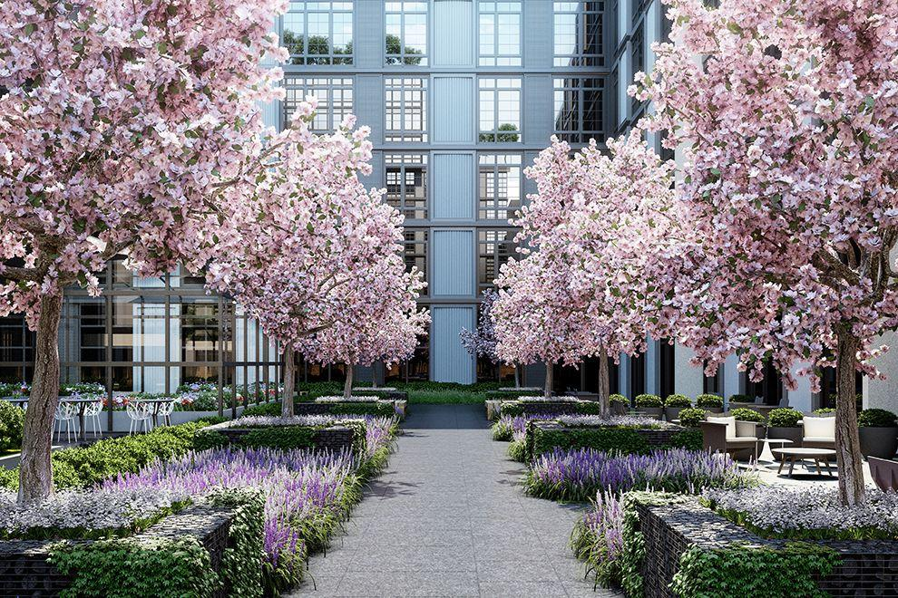 Garden at 30-02 39th Avenue in NYC - Apartments for sale