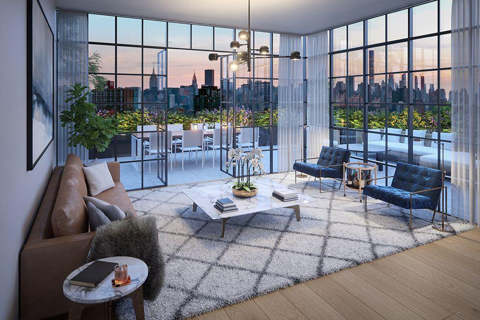 Rentals at 30-02 39th Avenue in Manhattan - Living Room