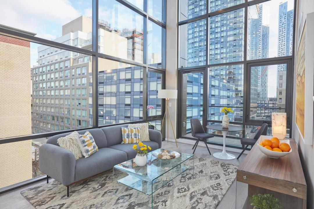 Living Room at 24-12 42nd Road in Long Island City - Apartments for rent