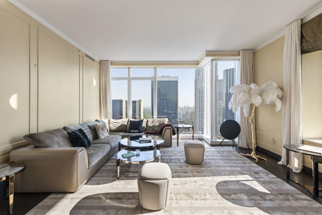 Apartments for rent at Baccarat Hotel and Residences - Living Room