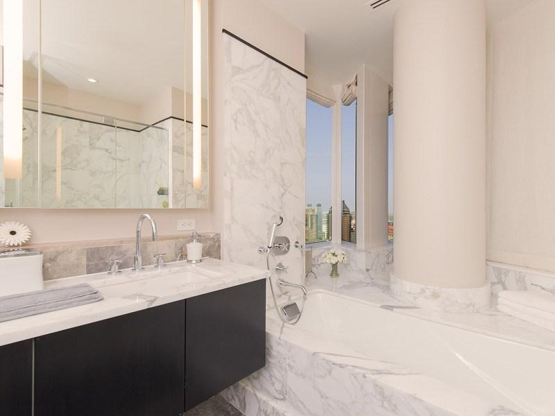 Bathroom at 25 Columbus Circle - Luxury apartments Manhattan
