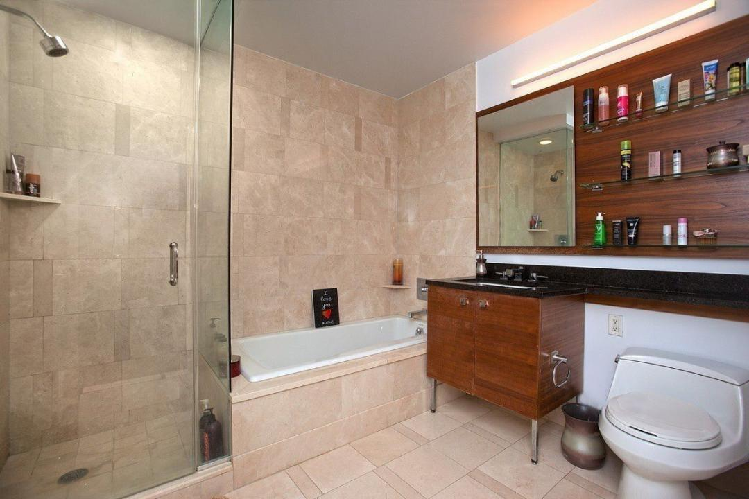 Bathroom at Trump Place - 120 Riverside Boulevard