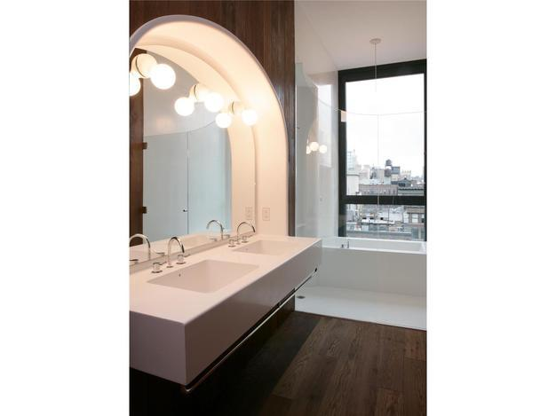 The Bathroom of an Apartment for Rent in Greenwich Village