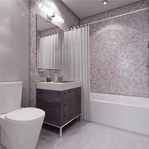 Bathroom with Custom Tiles in 426 West 52nd Street