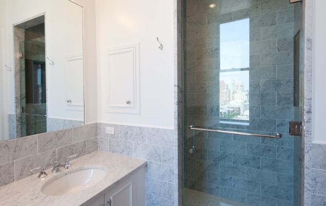 Bathroom with shower- The Orleans- NYC condos for rent