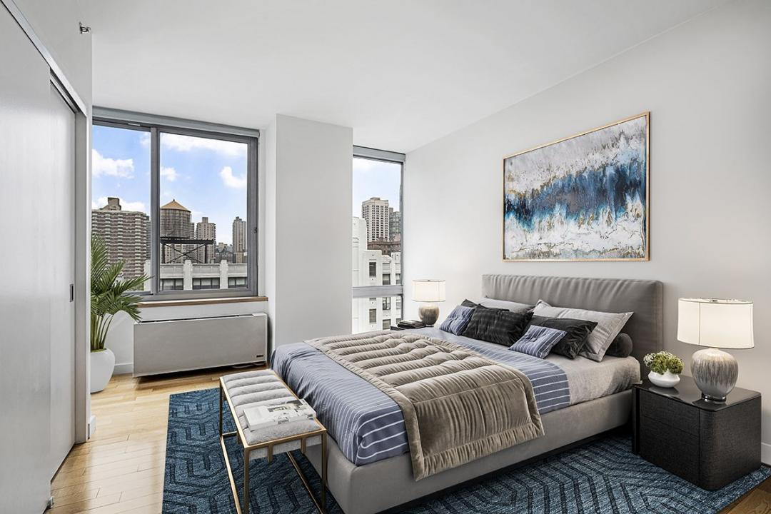 Bedroom at The Hudson Condominiums - 225 West 60th Street