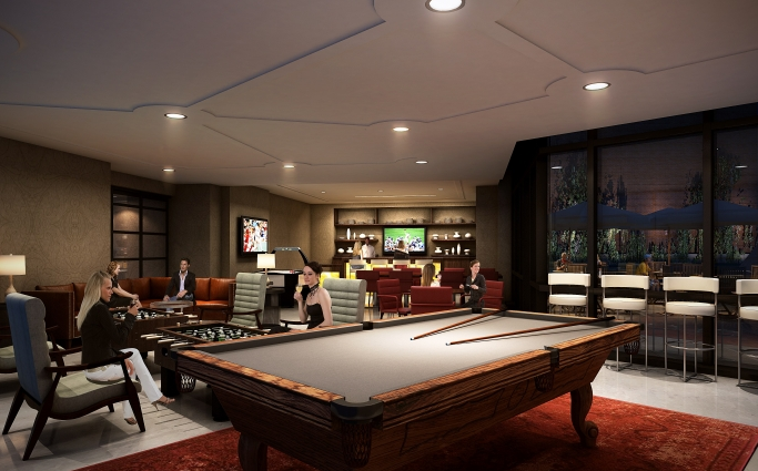 Billiard Room- 66 Rockwell Place- condos for rent in Williamsburg